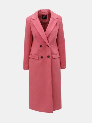 Ružový dlhý kabát Dorothy Perkins