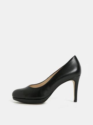 Pantofi negri din piele naturala cu toc cui Högl