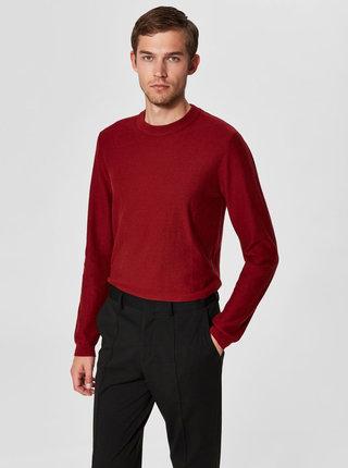 Vínový basic svetr Selected Homme Page