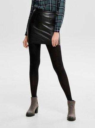 Čierna koženková puzdrová sukňa ONLY