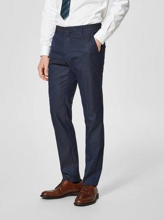 Tmavomodré oblekové nohavice Selected Homme Done