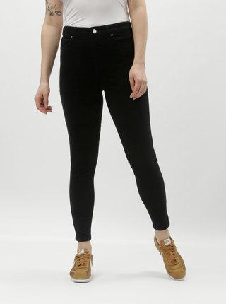 Černé manšestrové skinny kalhoty Miss Selfridge