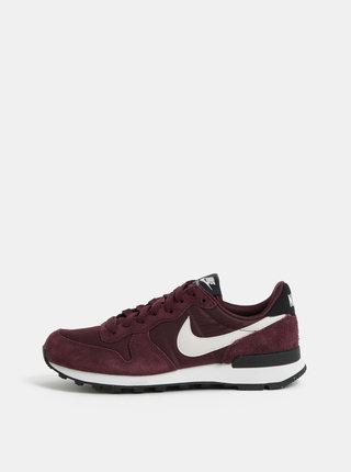 Pantofi sport mov de dama cu detalii din piele intoarsa Nike Internationalist