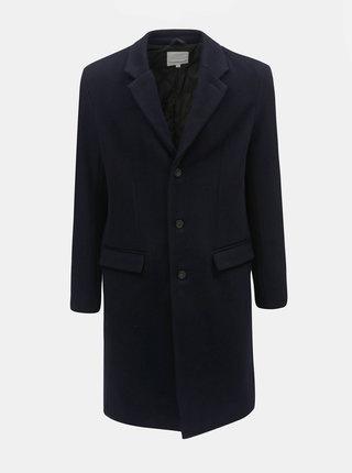 Tmavomodrý vlnený kabát Lindbergh