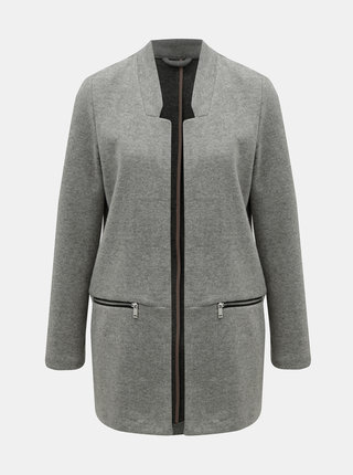 Šedý žíhaný lehký kabát TALLY WEiJL