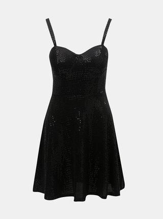 Černé šaty na ramínka TALLY WEiJL