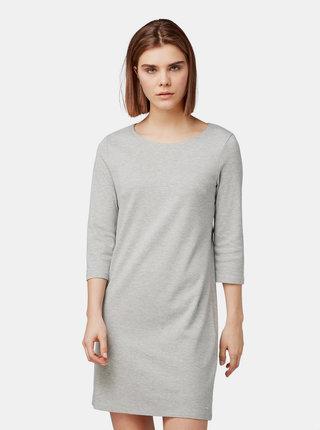 Sivé melírované šaty s 3/4 rukávom Tom Tailor Denim