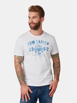 Biele pánske tričko s potlačou Tom Tailor