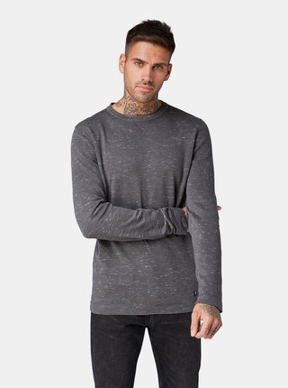 Tmavosivý pánsky tenký sveter Tom Tailor Denim