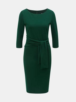 Tmavozelené puzdrové šaty s 3/4 rukávom ZOOT