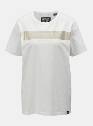 Tricou alb lejer de dama cu imprimeu Superdry