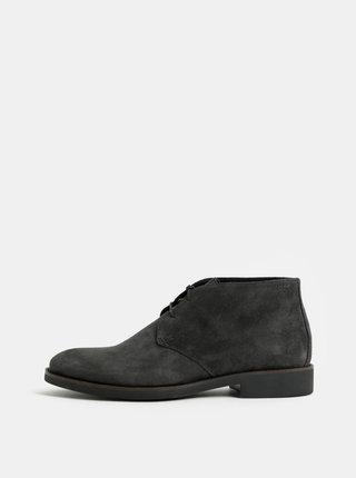 Tmavosivé pánske semišové členkové topánky Vagabond Roy