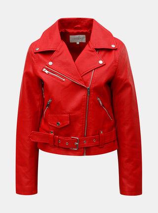 Jacheta rosie din piele sintetica VILA Jane