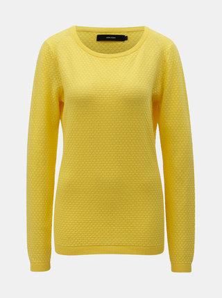 Žltý sveter VERO MODA Care