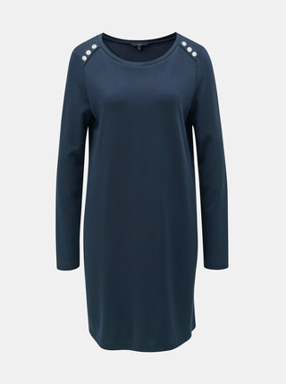 Tmavomodré šaty s dlhým rukávom VERO MODA Tonja