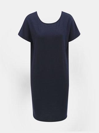 Tmavomodré basic šaty s krátkym rukávom Jacqueline de Yong Camilla