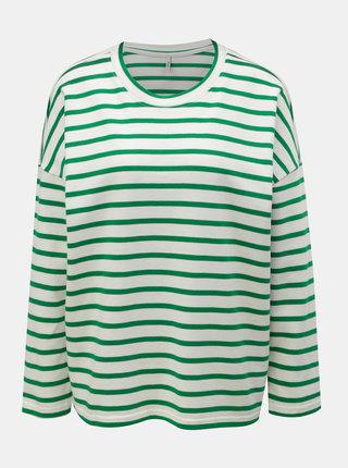 Bluza sport verde-alb in dungi lejera ONLY Rain