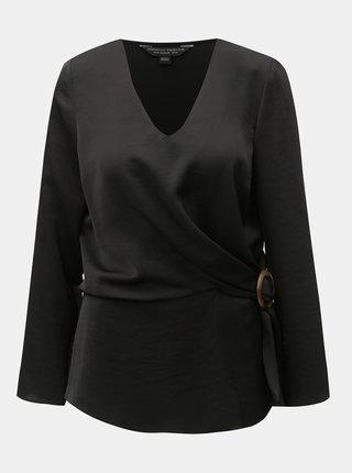 Čierna blúzka s ozdobnou sponou Dorothy Perkins