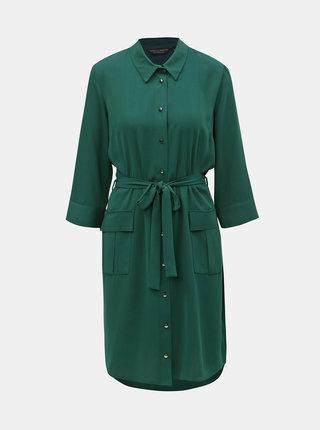 Tmavozelené košeľové šaty Dorothy Perkins