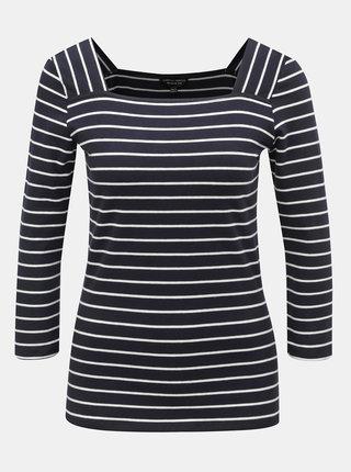 Tmavě modré pruhované tričko Dorothy Perkins