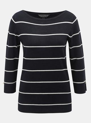 Tmavomodrý pruhovaný sveter Dorothy Perkins