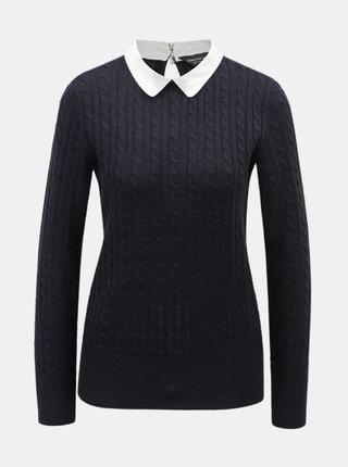 Tmavě modrý svetr s límečkem Dorothy Perkins