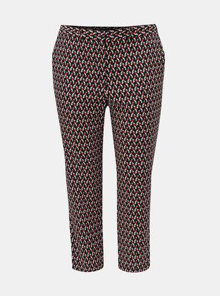 Červeno–modré vzorované skrátené nohavice Dorothy Perkins Curve