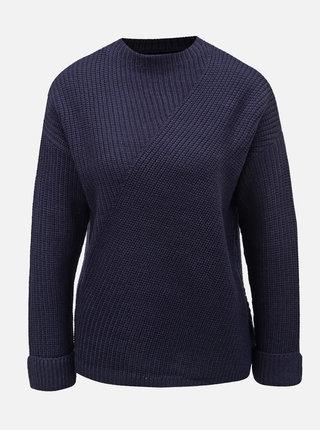 Tmavě modrý svetr se stojáčkem Dorothy Perkins