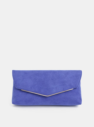 Modrá listová kabelka v semišovej úprave Dorothy Perkins