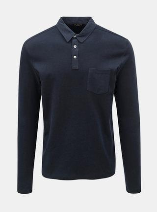 Tmavě modré basic polo tričko s kapsou Selected Homme