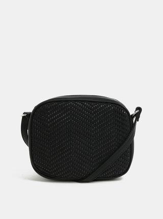 Čierna vzorovaná crossbody kabelka Pieces Bitten