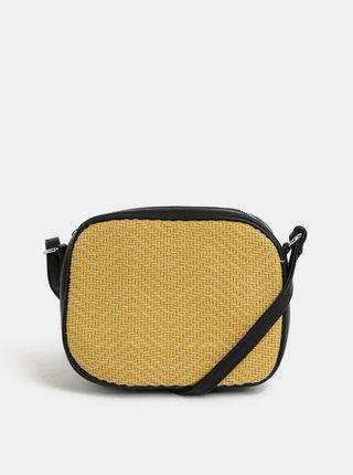 Žlutá vzorovaná crossbody kabelka Pieces Bitten