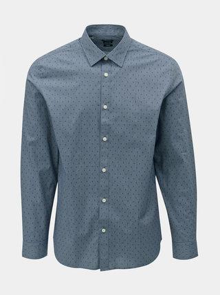 Camasa albastra regular fit cu model Selected Homme Regpen