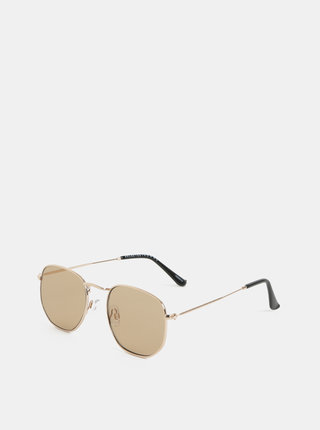 Slnečné okuliare v zlatej farbe Selected Homme Kristian