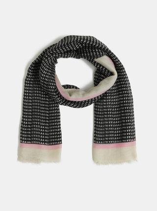 Černý vzorovaný šátek Pieces Bakira