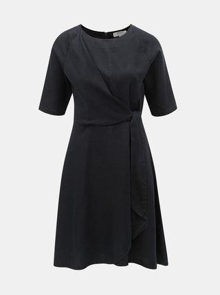 Čierne šaty so zaväzovaním Dorothy Perkins