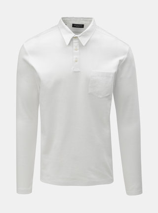 Bílé basic polo tričko s kapsou Selected Homme Johnny