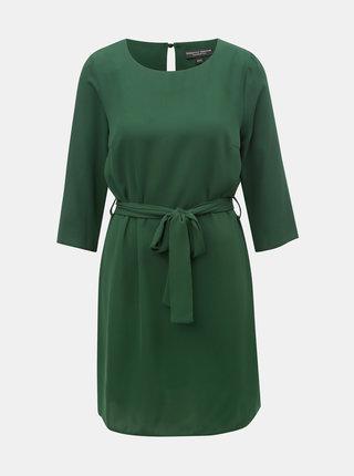 Zelené šaty s opaskom Dorothy Perkins