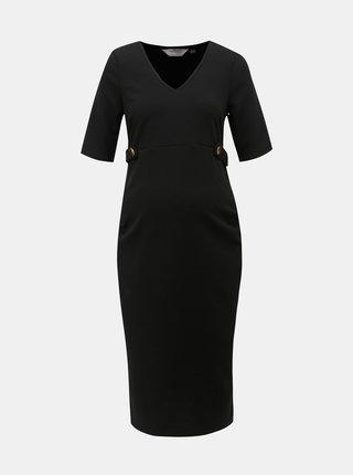 Černé těhotenské pouzdrové šaty Dorothy Perkins Maternity