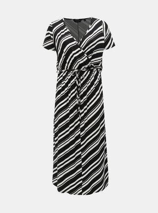 Bílo-černé pruhované maxišaty Dorothy Perkins Curve