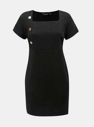 Černé pouzdrové šaty s knoflíky Dorothy Perkins Curve
