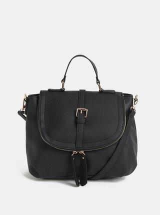 Černá crossbody kabelka s ozdobnými zipy Dorothy Perkins