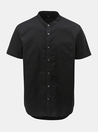 Černá košile s krátkým rukávem Burton Menswear London