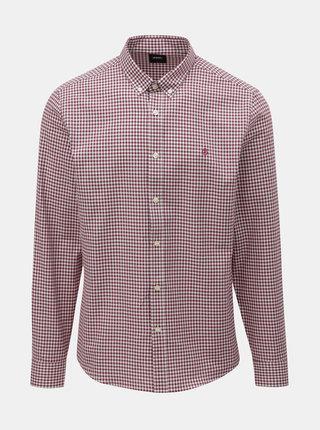 Bílo-vínová kostkovaná košile Burton Menswear London