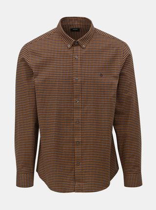 Čierno–hnedá kockovaná košeľa Burton Menswear London