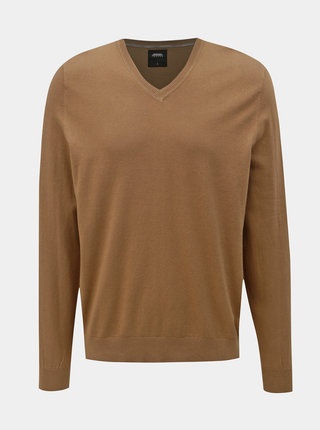 Hnědý basic svetr Burton Menswear London