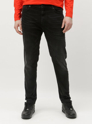 Blugi gri inchis tapered fit Burton Menswear London