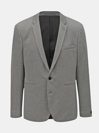 Sivé melírované sako Burton Menswear London