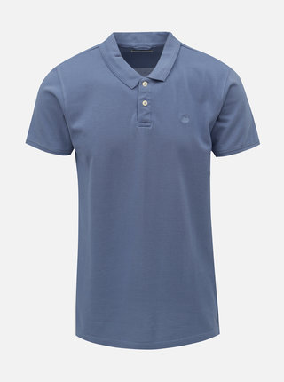 Modré basic polo tričko Dstrezzed Bowie