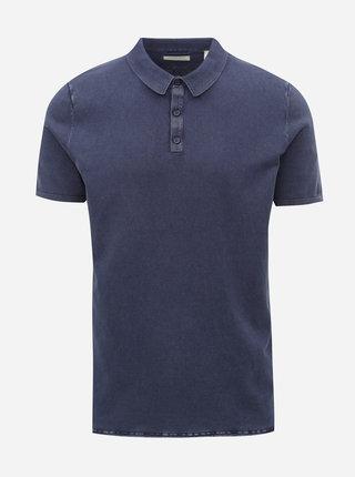 Tmavě modré polo tričko Dstrezzed Acid